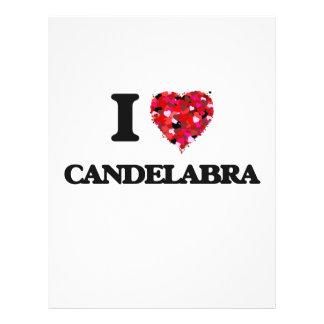 I love Candelabra 21.5 Cm X 28 Cm Flyer