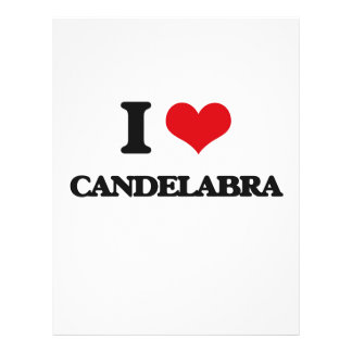 I love Candelabra Personalized Flyer