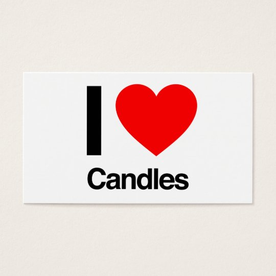 i love candles business card