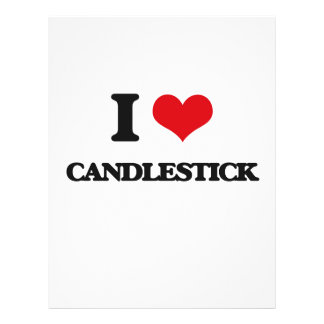 I love Candlestick 21.5 Cm X 28 Cm Flyer