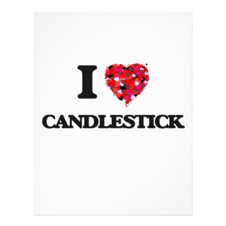 I love Candlestick 21.5 Cm X 28 Cm Flyer