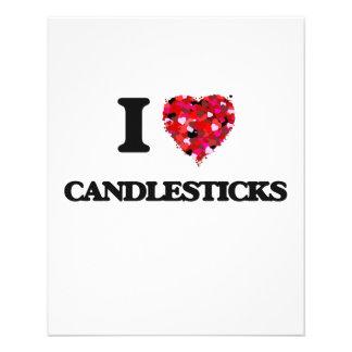 I love Candlesticks 11.5 Cm X 14 Cm Flyer