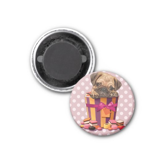 I love candy 3 cm round magnet