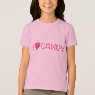 I love Candy Pink Heart Girls Tee