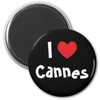 I Love Cannes 6 Cm Round Magnet