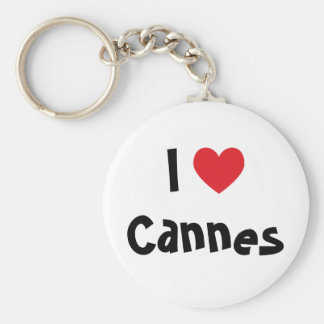 I Love Cannes Basic Round Button Key Ring