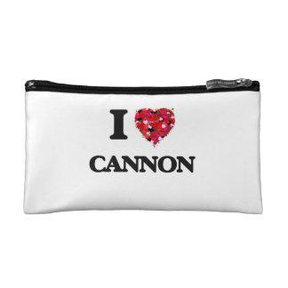 I Love Cannon Cosmetics Bags