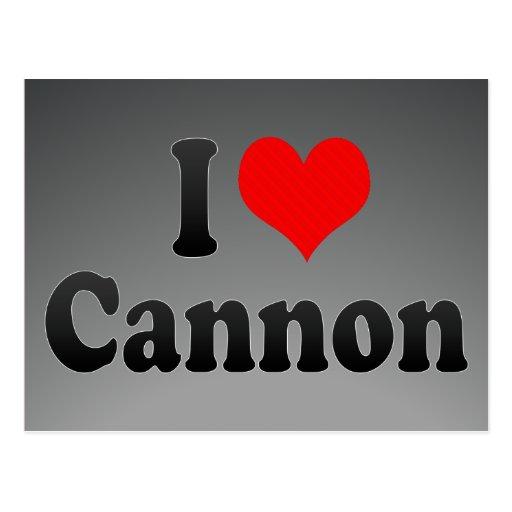 I love Cannon Postcards