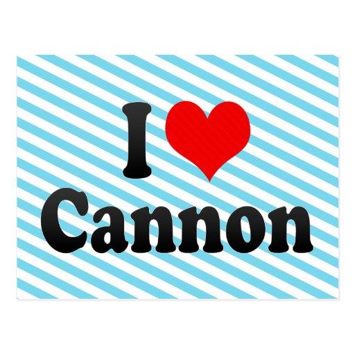 I love Cannon Postcard