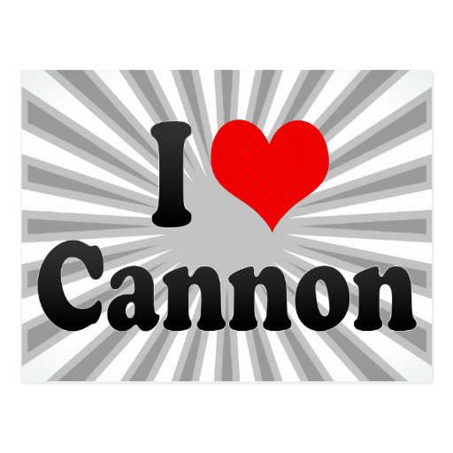 I love Cannon Post Cards