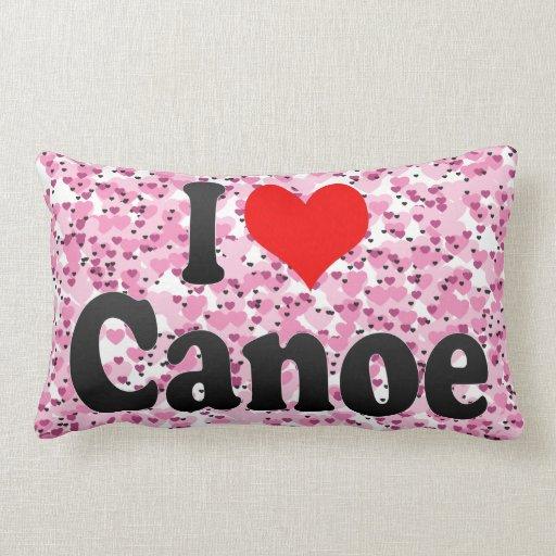 I love Canoe Throw Pillow