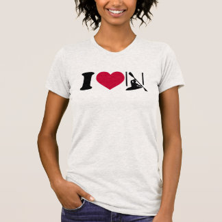 I love canoe slalom t shirt