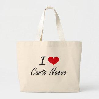 I Love CANTO NUEVO Jumbo Tote Bag