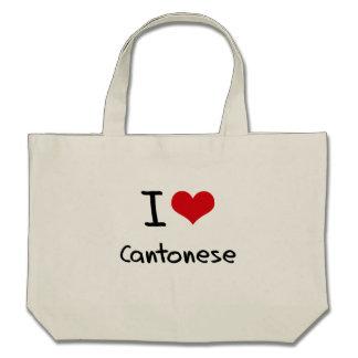 I love Cantonese Tote Bags
