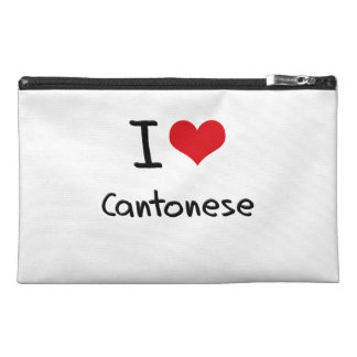 I love Cantonese Travel Accessory Bags