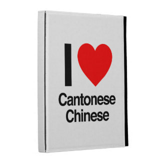 i love cantonese chinese iPad folio cases