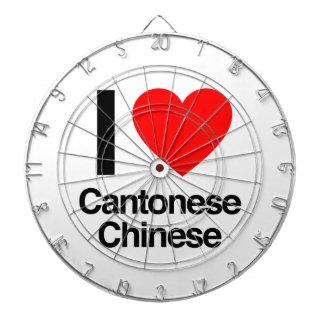 i love cantonese chinese dart board