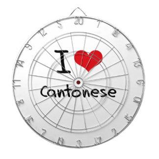 I love Cantonese Dartboard With Darts