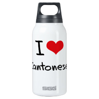 I love Cantonese 10 Oz Insulated SIGG Thermos Water Bottle