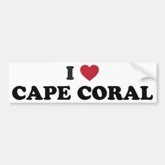 I Love Cape Coral Florida Bumper Sticker