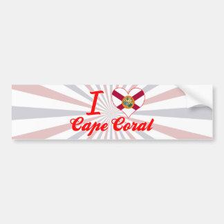 I Love Cape Coral, Florida Bumper Sticker