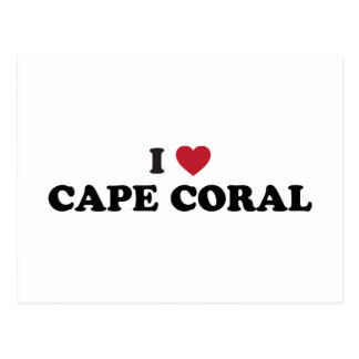 I Love Cape Coral Florida Postcard