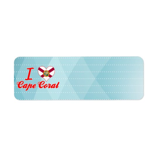 I Love Cape Coral, Florida Return Address Label