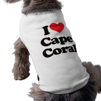 I Love Cape Coral Sleeveless Dog Shirt