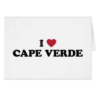 I Love Cape Verde Greeting Card
