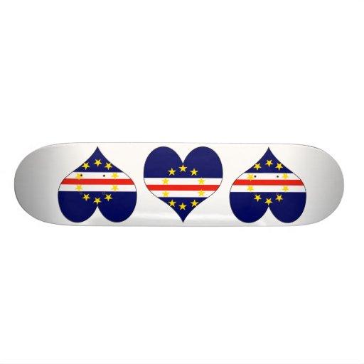 I Love Cape Verde Custom Skateboard