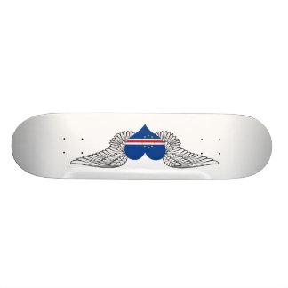 I Love Cape Verde -wings Skate Board
