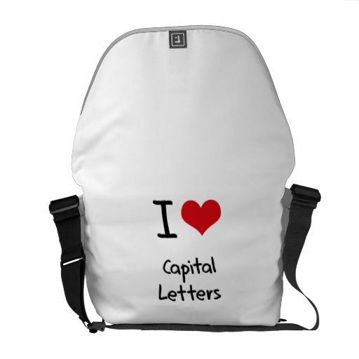 I love Capital Letters Courier Bags