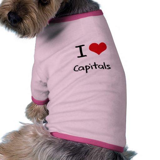 I love Capitals Dog Tee Shirt