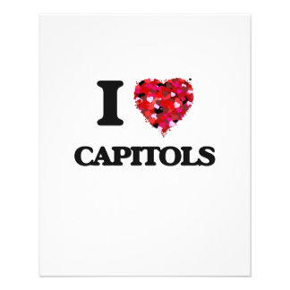 I love Capitols 11.5 Cm X 14 Cm Flyer