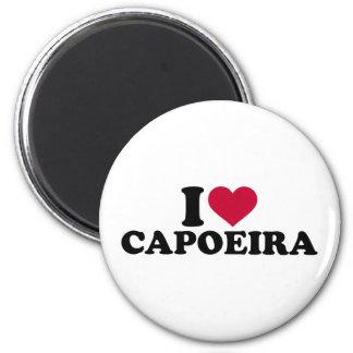 I love Capoeira 6 Cm Round Magnet