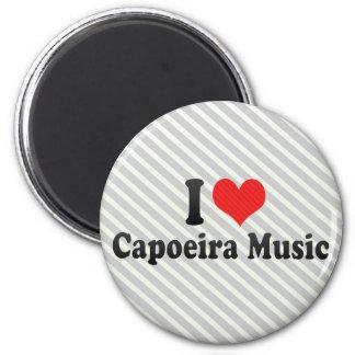 I Love Capoeira Music Magnet