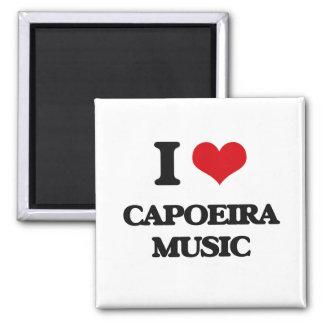 I Love CAPOEIRA MUSIC Square Magnet