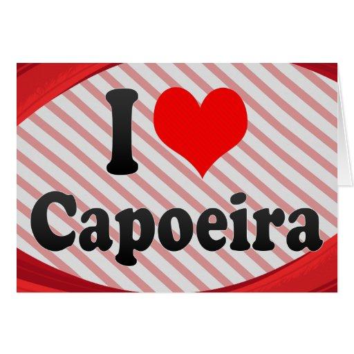 I love Capoeira Note Card