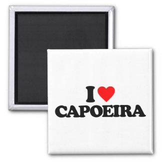 I LOVE CAPOEIRA SQUARE MAGNET