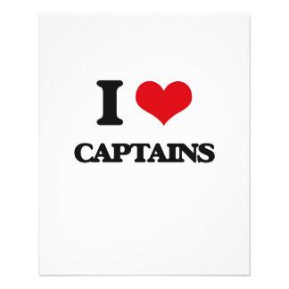 I love Captains 11.5 Cm X 14 Cm Flyer