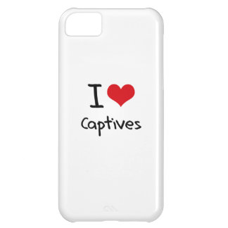 I love Captives Case For iPhone 5C