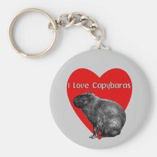 I Love Capybaras Keychain