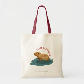 I love capybaras tote bag