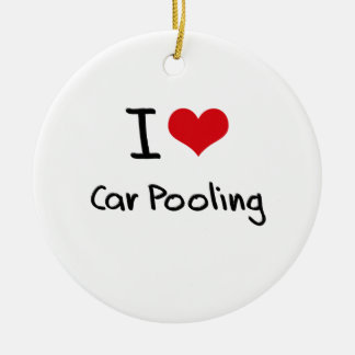 I love Car Pooling Christmas Ornament