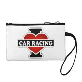 I Love Car Racing Coin Purses