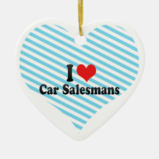 I Love Car Salesmans Christmas Ornament