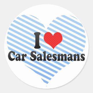 I Love Car Salesmans Stickers