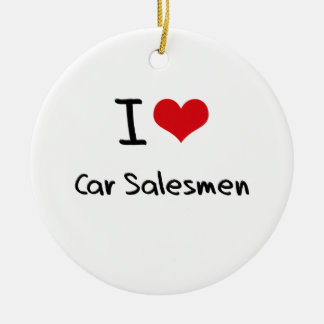 I love Car Salesmen Christmas Ornament