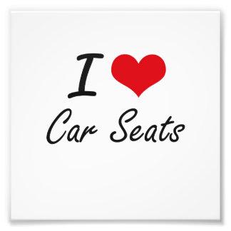 I Love Car Seats Artistic Design Photo Print