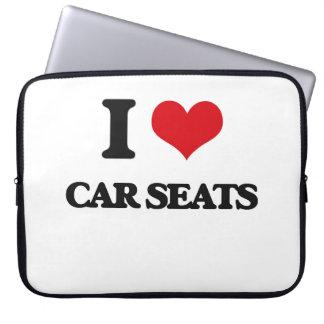 I Love Car Seats Computer Sleeves